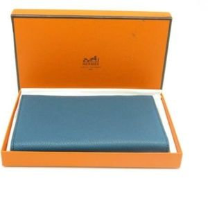 Hermes Notepad Chevre Leather Blue 4730
